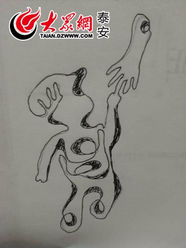 """大众网友手绘""""一笔图"""":有多久,没有牵过妈妈的手?"""
