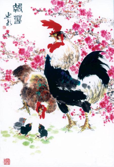 欲近晓天啼一声—著名画家尹延新谈画鸡图片
