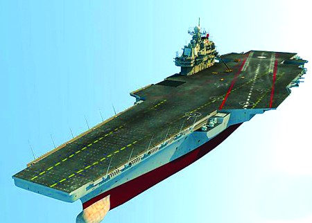 中国航母浮出水面?
