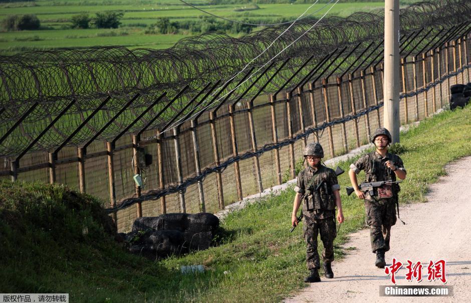 朝韩边境交火 韩军加强防御态势