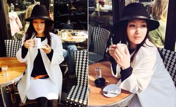 一代玉女杨钰莹日前在微博晒出自己在巴黎街头的照片,照片中她一身休闲装扮流连在巴黎街头,看起来正在享受旅程惬意十足。