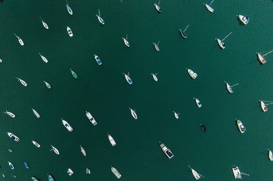 2014年7月7日,香港白沙湾航拍图。