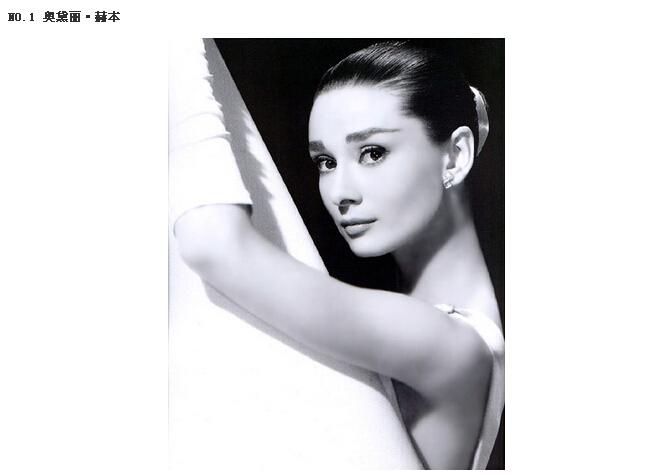 网评40大最美女人 永远的天使赫本第1