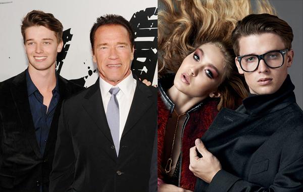 施瓦辛格的儿子:20岁,Patrick Schwarzenegger代言某品牌秋冬广告。