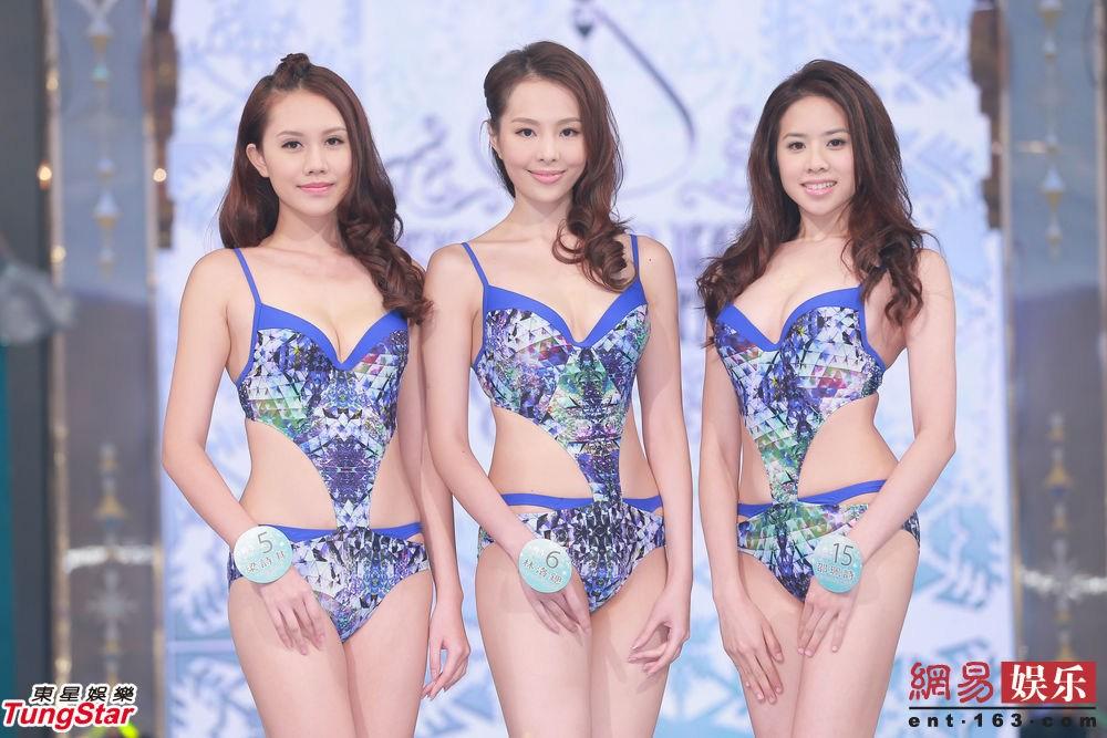 2014年8月31日讯,香港,2014香港小姐竞选决赛31日晚举行,十位候选佳丽30日穿上泳装彩排。