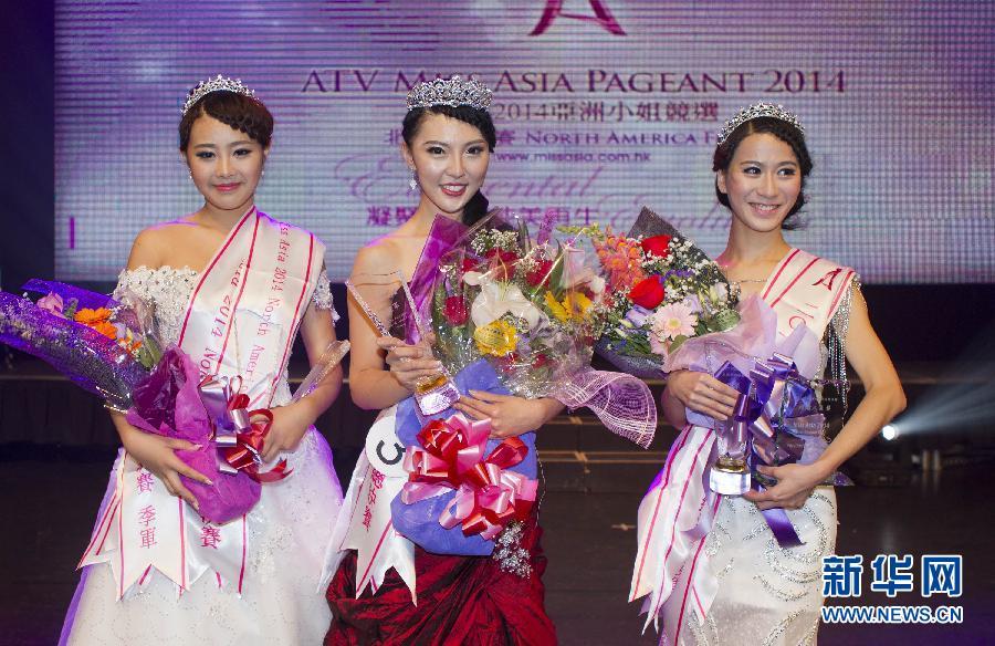 10月18日,在加拿大多伦多进行的2014年亚洲小姐选美北美地区总决赛中,来自加拿大安大略省布鲁克大学的24岁教育专业在读研究生马嘉佩夺得冠军。.jpg