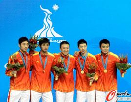 国乒男团3:0韩国 实现亚运会五连冠