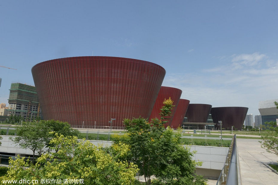 2014年7月12日,山西省太原博物馆外景。