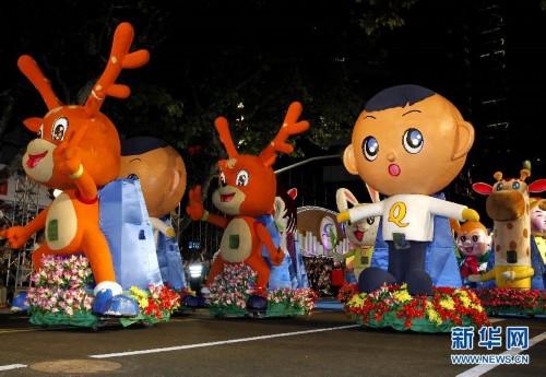 当日,2014年上海旅游节花车大巡游拉开帷幕。