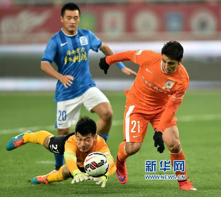 (体育)(9)足球――中超:山东鲁能不敌广州富力