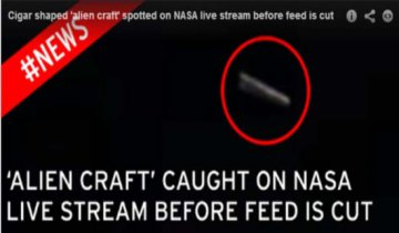 NASA视频中惊现香烟状UFO