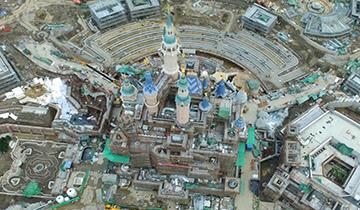 上海迪士尼开工4年半 最高大城堡露真容