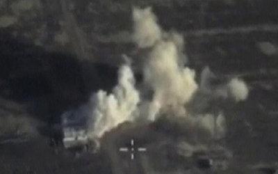 俄罗斯空袭叙境内IS指挥所截图曝光