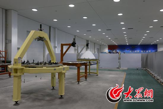 中国航空工业集团公司济南特种结构研究所车间内
