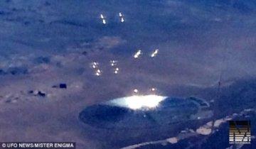 飞机乘客见到疑似UFO物体 似巨大金属飞盘