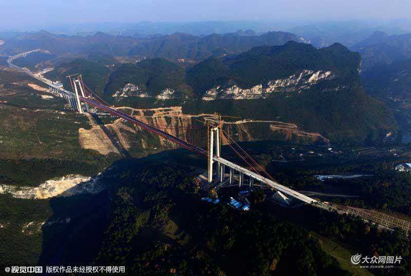贵州黔南:清水河大桥年底投用