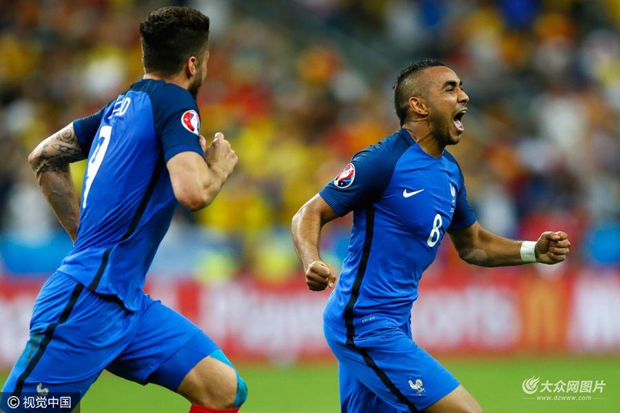 北京时间6月11日3时(法国当地时间10日21时),第15届欧洲杯揭幕战在法兰西大球场打响,东道主法国主场2比1绝杀罗马尼亚。