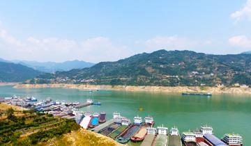 湖北宜昌:航拍三峡蓄水