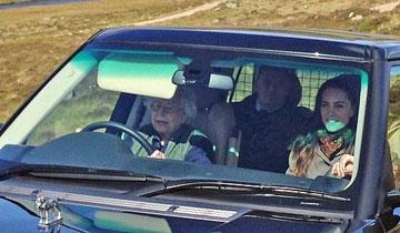 90岁英国女王亲自开车度假 保镖被赶后座