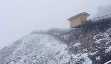任性的丽江 周末已经开始下雪