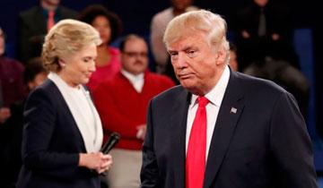 美国大选第二次辩论 火药味十足
