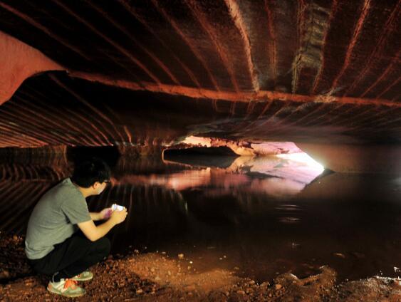 浙江兰溪发现庞大地下石窟群