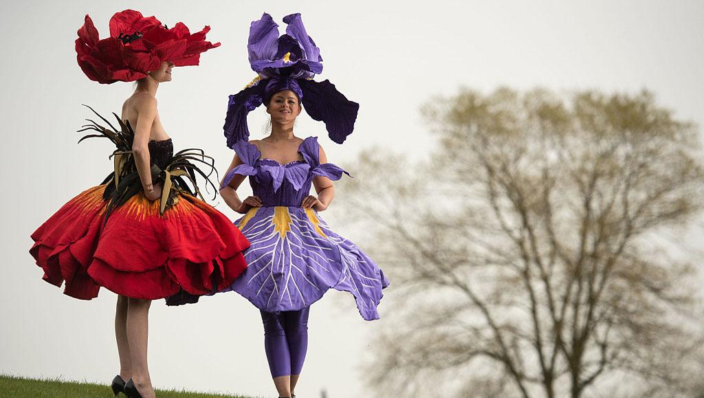 """新西兰艺术家脑洞大开创作""""花裙"""" 城会玩"""