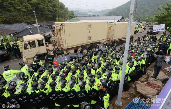 韩国全面部署萨德 已将设备运至预定地点