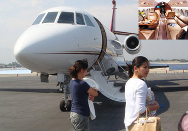 刘涛奢华私人飞机价值3亿