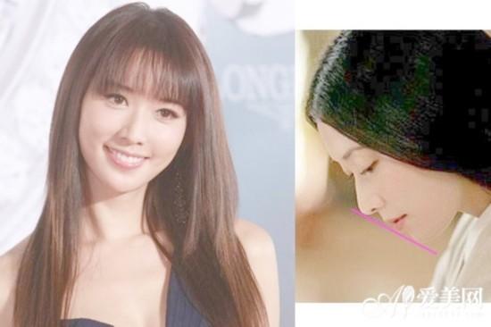 林志玲:志玲姐姐低头娇羞的侧脸差点就成三点一线了,还好不会躺枪.