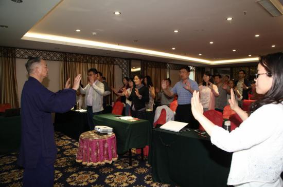 道医太素脉诀传人陈云鹤出席世界中联脉象研究专业委员会学术年会并做