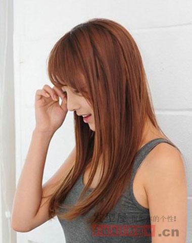 超人气韩式直发发型 打造清新自然美图片