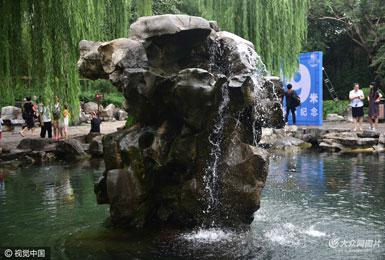 月牙飞瀑盛景再现 七十二名泉全面复喷