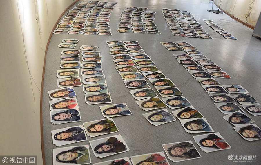 济南:艺考校考阅卷开始 考生画卷铺满地