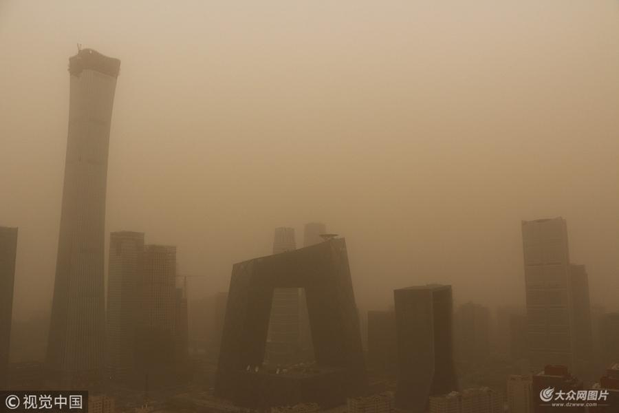 北京发布沙尘蓝色预警