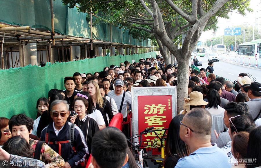 厦门大学分时段限制客流 难挡游客人潮汹涌