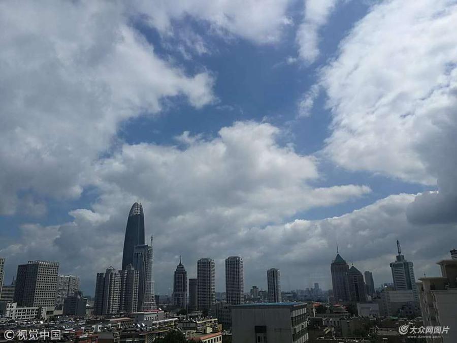 台风摩羯过境 济南现蓝天白云