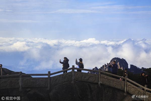 黄山:初冬季节 云海炫秀