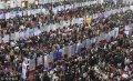"""2018年11月29日,济南,大学生参加就业""""双选会""""找工作。  张勇(山东分社)/中新社/视觉中国"""