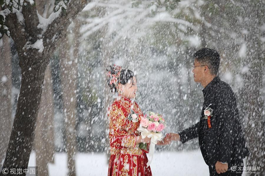 日照:雪后美景如画 别有一番趣味