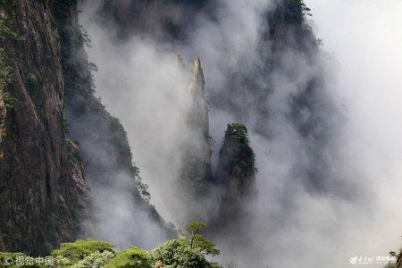 2019年3月29日,雨后初霁的安徽黄山风景区,云海弥漫,奇峰竞秀,分外妖娆。