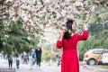 2019年3月27日下午,在位于济南的山东师范大学校园内,丁香花、梨花等植物盛开,花香四溢。