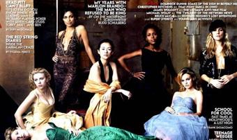 章子怡闪耀好莱坞《名利场》 成唯一入选中国影星
